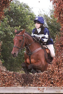 Anna Hayward riding Sarah Allan's Prince Apollo