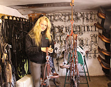 Althea in the Tack Room